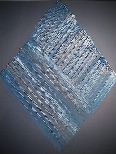 """Painting titled """"blue square"""" by A.L.A, Original Art, Acrylic Mounted on Stretcher frame"""