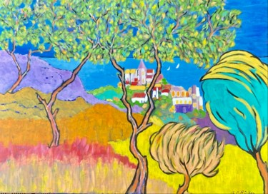 Nature Painting, acrylic, fauvism, artwork by Alain Charles Richer