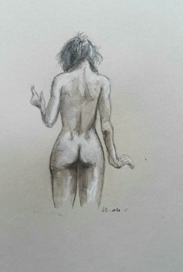 Painting, ink, figurative, artwork by Alain Devienne