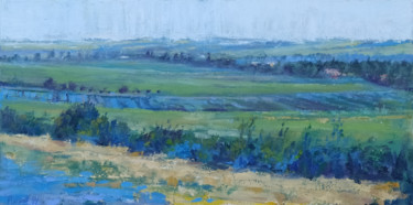 """Painting titled """"View near Taillades"""" by Alan Ansell, Original Art, Oil"""