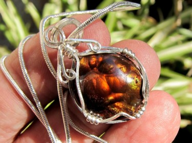 """Design titled """"Mexican fire agate…"""" by Alberto Thirion, Original Art, Jewelry"""