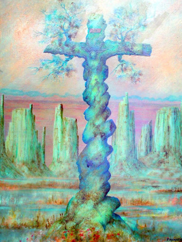 """Painting titled """"Las Cruces,New Mexi…"""" by Alberto Thirion: Christian Artist And Ecologist, Original Art, Oil"""