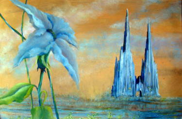 """Painting titled """"Santa Fe,New Mexico"""" by Alberto Thirion: Christian Artist And Ecologist, Original Art, Oil"""