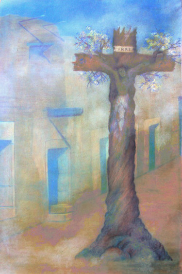 """Painting titled """"Posters of Taos,New…"""" by Alberto Thirion: Christian Artist And Ecologist, Original Art, Oil"""