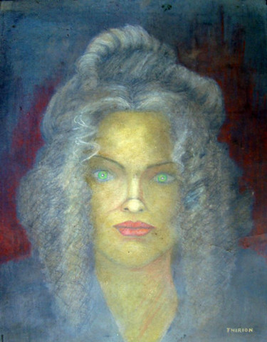 """Painting titled """"Texas Woman"""" by Alberto Thirion: Christian Artist And Ecologist, Original Art, Oil"""