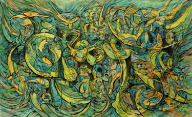 Color Painting, acrylic, abstract, artwork by Alejandro Mendez
