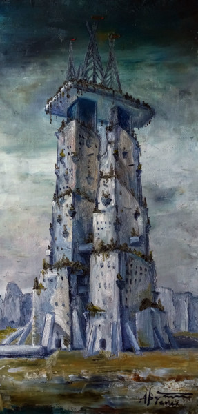Architecture Painting, oil, figurative, artwork by Алекс Вознесенский