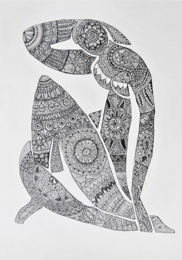 Drawing, pencil, abstract, artwork by Alexandra Djokic