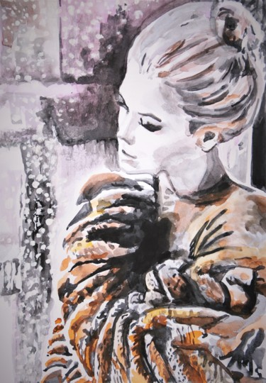 Painting, ink, figurative, artwork by Alexandra Djokic