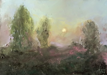 """Painting titled """"Trees In The Mist"""" by Alena Rumak, Original Art, Oil"""