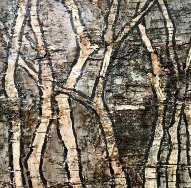 """Collages titled """"Silver Birch Trees"""" by Alena Rumak, Original Art, Collages"""