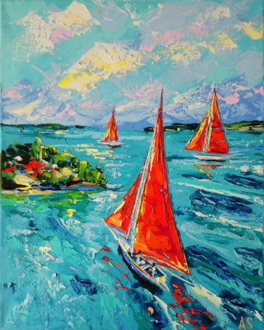 Painting, oil, expressionism, artwork by Alena Shymchonak