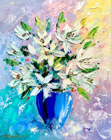 """Painting titled """"Commission; Flowers…"""" by Alena Shymchonak, Original Art, Oil"""