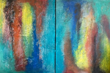 """Painting titled """"Twins but not Twins"""" by Alessandra Viola, Original Art, Acrylic Mounted on Stretcher frame"""