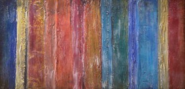 """Painting titled """"Between the Lines"""" by Alessandra Viola, Original Art, Acrylic Mounted on Stretcher frame"""