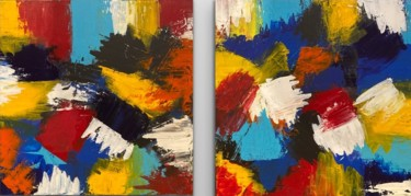 """Painting titled """"Layers of Colours"""" by Alessandra Viola, Original Art, Acrylic Mounted on Stretcher frame"""