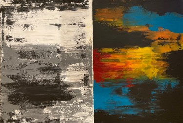 """Painting titled """"Positive & Negative"""" by Alessandra Viola, Original Art, Acrylic Mounted on Stretcher frame"""