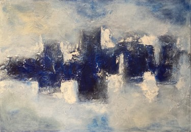 """Painting titled """"Through the Clouds"""" by Alessandra Viola, Original Art, Acrylic Mounted on Stretcher frame"""