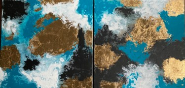 """Painting titled """"From Above"""" by Alessandra Viola, Original Art, Acrylic Mounted on Stretcher frame"""