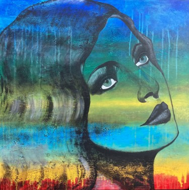 """Painting titled """"Lost in Dreams"""" by Alessandra Viola, Original Art, Acrylic Mounted on Stretcher frame"""