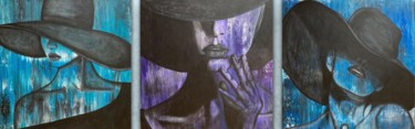 """Painting titled """"Hats"""" by Alessandra Viola, Original Art, Acrylic Mounted on Stretcher frame"""