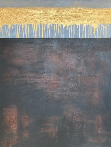 """Painting titled """"The Bottom Line"""" by Alessandra Viola, Original Art, Acrylic Mounted on Stretcher frame"""