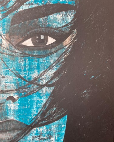 """Painting titled """"Window to the Soul"""" by Alessandra Viola, Original Art, Acrylic Mounted on Stretcher frame"""