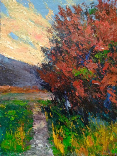 """Painting titled """"Spring is in the air"""" by Alexander Brisac, Original Art, Acrylic"""