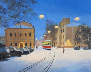 """Painting titled """"Moscow. January sno…"""" by Александр Болотов, Original Art, Oil"""