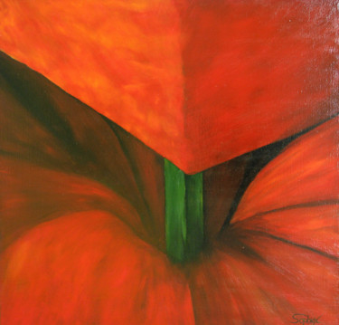 Flower Painting, oil, expressionism, artwork by Alexander Sophiex