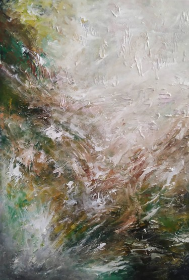 """Painting titled """"A breeze blew"""" by Αλεξάνδρα Πετρόπουλου, Original Art, Acrylic"""