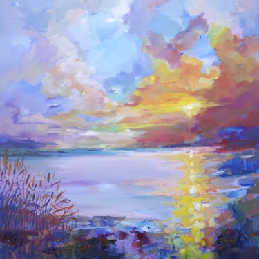 """Painting titled """"Between land and sky"""" by Alexandra Ghimisi, Original Art, Acrylic"""