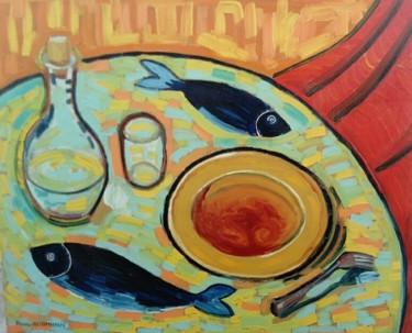 Painting, oil, fauvism, artwork by Alexis Baumann