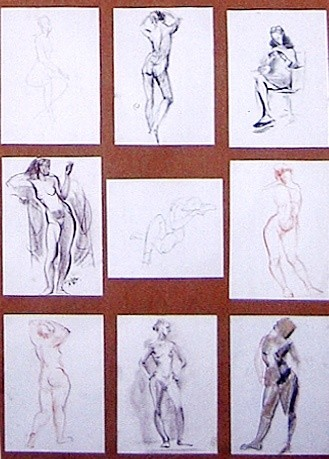 """Drawing titled """"Sketches"""" by Alexey Kriventsov, Original Art,"""