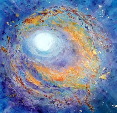 """Painting titled """"The Star"""" by Alla Kosteleckaya, Original Art, Acrylic Mounted on Stretcher frame"""