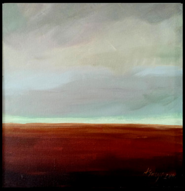 """Painting titled """"Field 2"""" by Alina Matykiewicz, Original Art, Oil Mounted on Other rigid panel"""