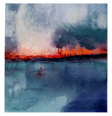 Painting, watercolor, abstract, artwork by Alina Matykiewicz