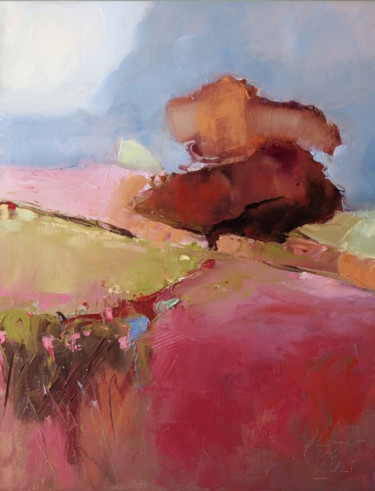 Landscape Painting, oil, abstract, artwork by Alina Matykiewicz