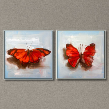 """Painting titled """"Diptych """"Red butter…"""" by Alina Marsovna, Original Art, Oil"""