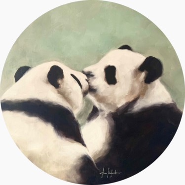 """Painting titled """"""""The Kiss"""" 