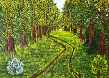 """Painting titled """"Oaks forest"""" by Alina Morozova, Original Art, Oil"""