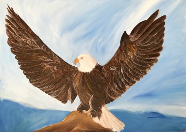 """Painting titled """"The Eagle"""" by Alina Morozova, Original Art, Oil"""