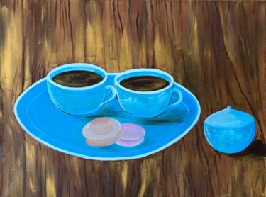 """Painting titled """"Cups of coffee"""" by Alina Morozova, Original Art, Oil"""