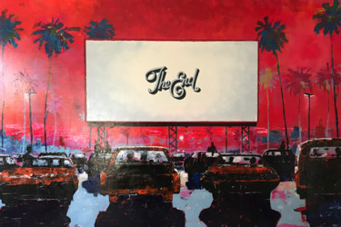 """Painting titled """"drive in"""" by Philip Michael Martin, Original Art, Acrylic"""