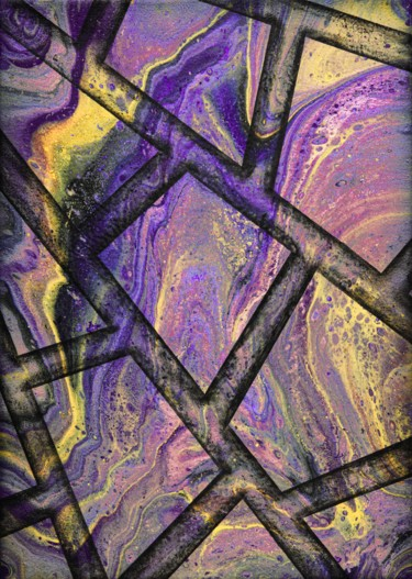 """Painting titled """"Marble flow purple"""" by Alistair Coull, Original Art, Acrylic"""