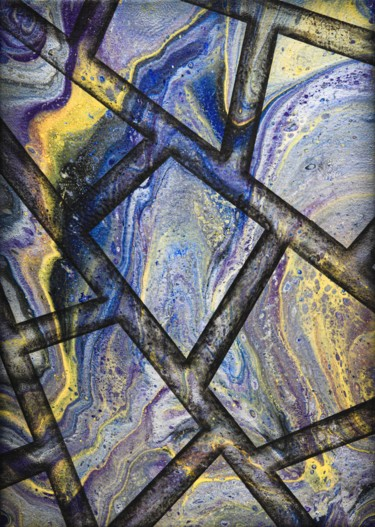 """Painting titled """"Marble flow"""" by Alistair Coull, Original Art, Acrylic"""