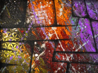 """Painting titled """"Cosmic colour war"""" by Alistair Coull, Original Art, Acrylic"""