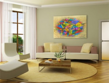 """Painting titled """"___A_a_O_______i___…"""" by Mukheled Almukhtar, Original Art,"""