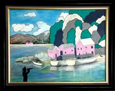 """Painting titled """"PIRATE"""" by A.Lone, Original Art, Marker Mounted on Stretcher frame"""