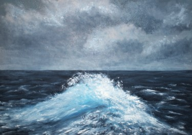 """Painting titled """"Wave"""" by Alyona Cherney, Original Art, Oil"""